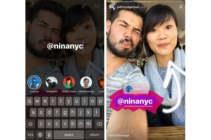 instagram story mentions