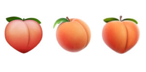 ios peach emoji evolution2