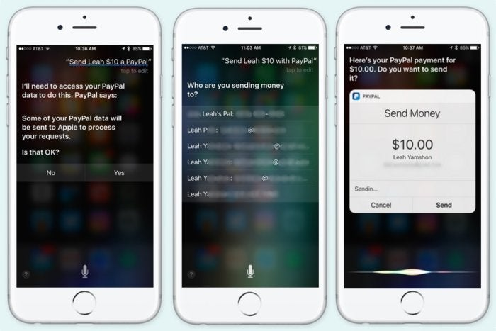 ios10 paypal siri 3up