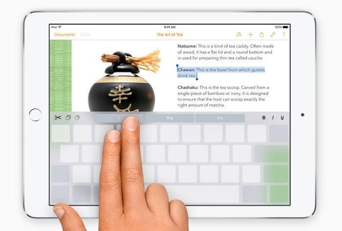 ios9 keyboard trackpad select text apple 700w