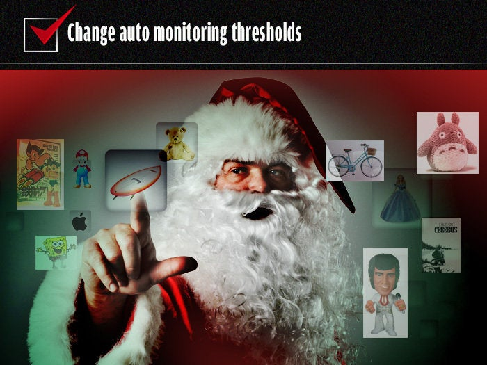 Change auto monitoring thresholds