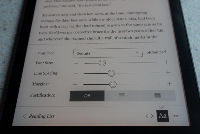 kobo aura one font control