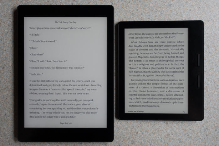 kobo aura one vs kindle oasis
