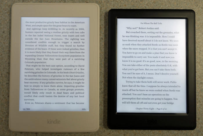 kobo glo vs amazon paperwhite
