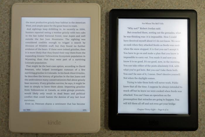 kobo glo vs amazon paperwhite