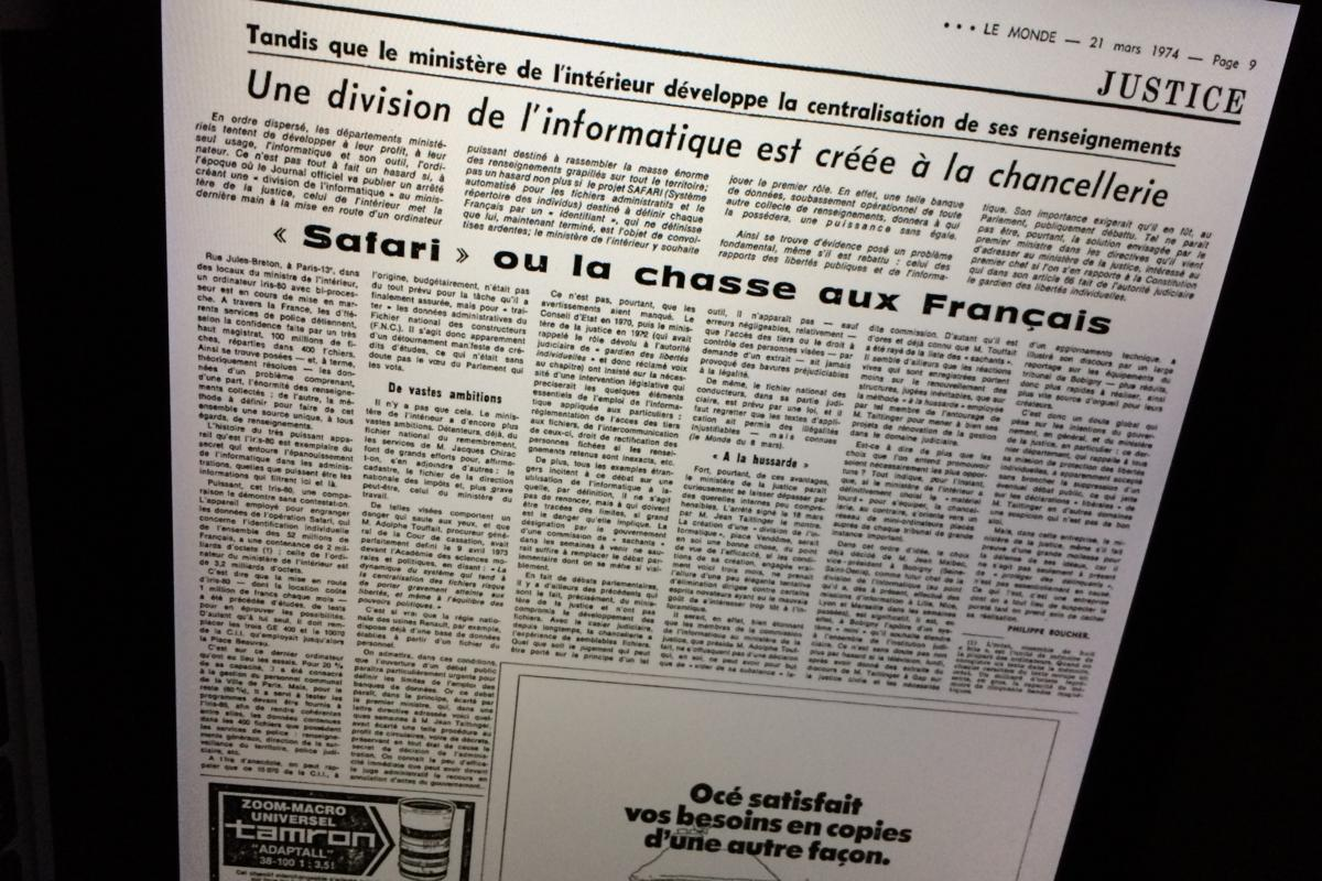 Le Monde Safari French surveillance
