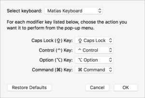 mac 911 change modifier keys