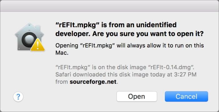 mac911 open unidentified app