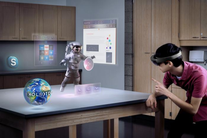 microsoft hololens mixed virtual reality augmented 3D
