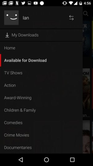 netflix offline available for download