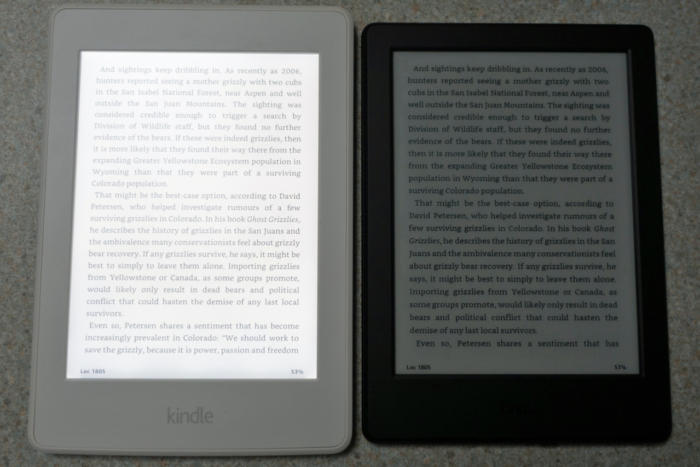 new kindle no backlight