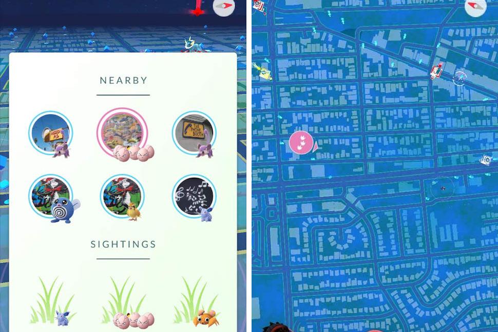 pokemon go return nearby