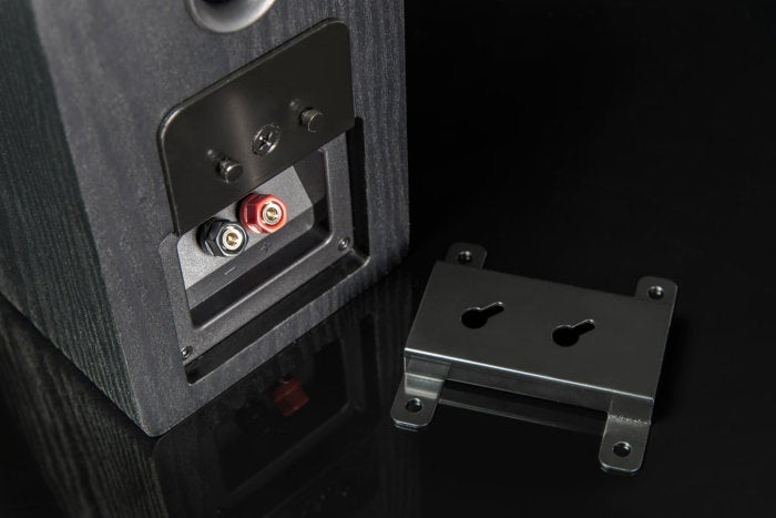 The four-way fllush mount allows you to hang the speakers in any one of four different orientations.