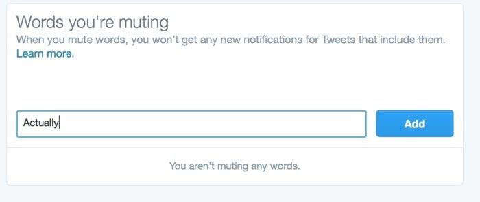 privatei twitter mute word