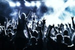 rock concert audience party music celebrate