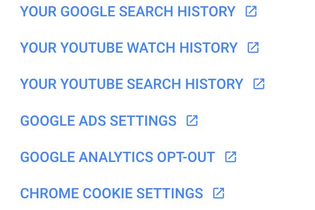 Google's Privacy Checkup
