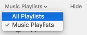 show all playlists