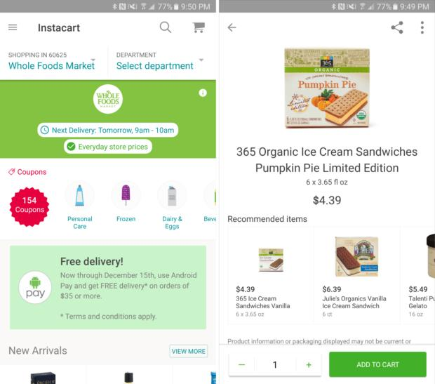 thanksgiving meal instacart