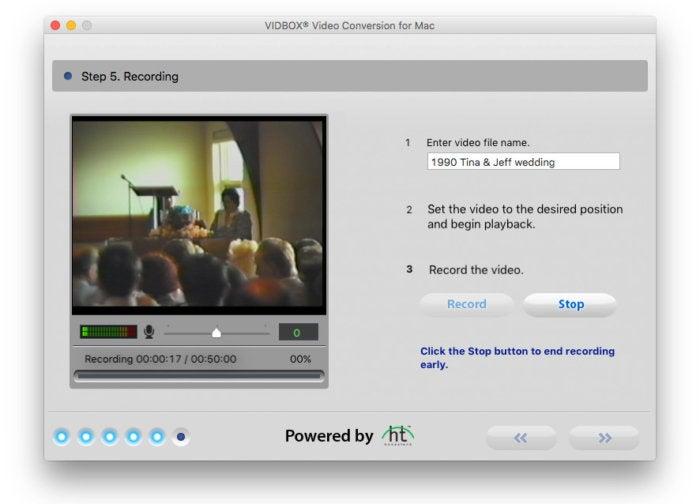 vidbox video conversion suite record in progress