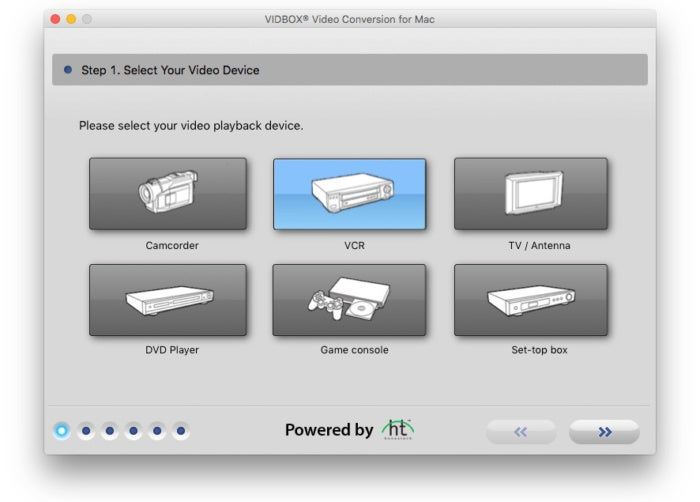 vidbox video conversion suite select device