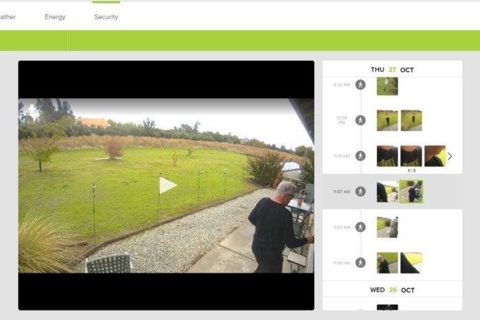 Netatmo web app user interface
