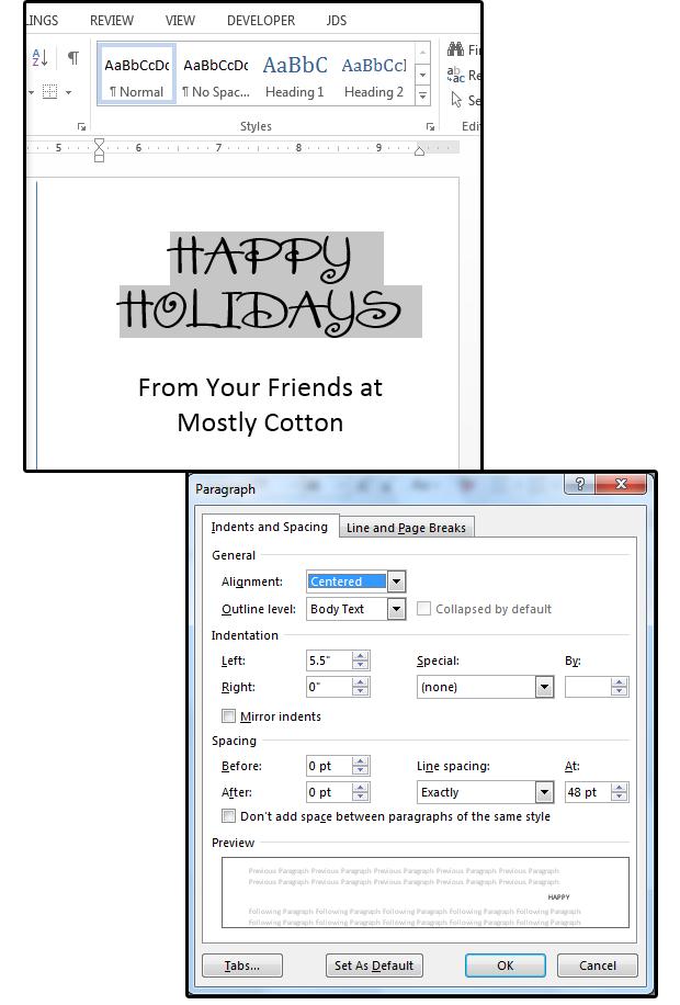 07 enter a festive font choose effectsleading