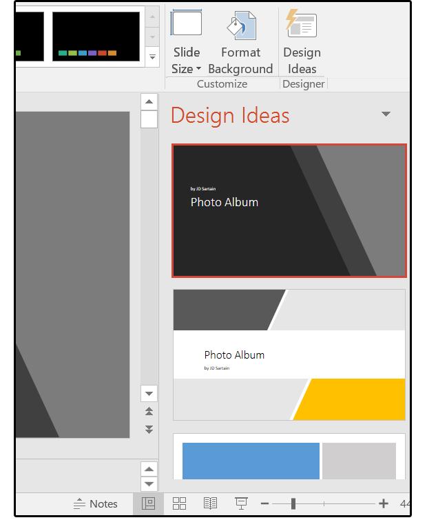 09 select a design from the design ideas menu