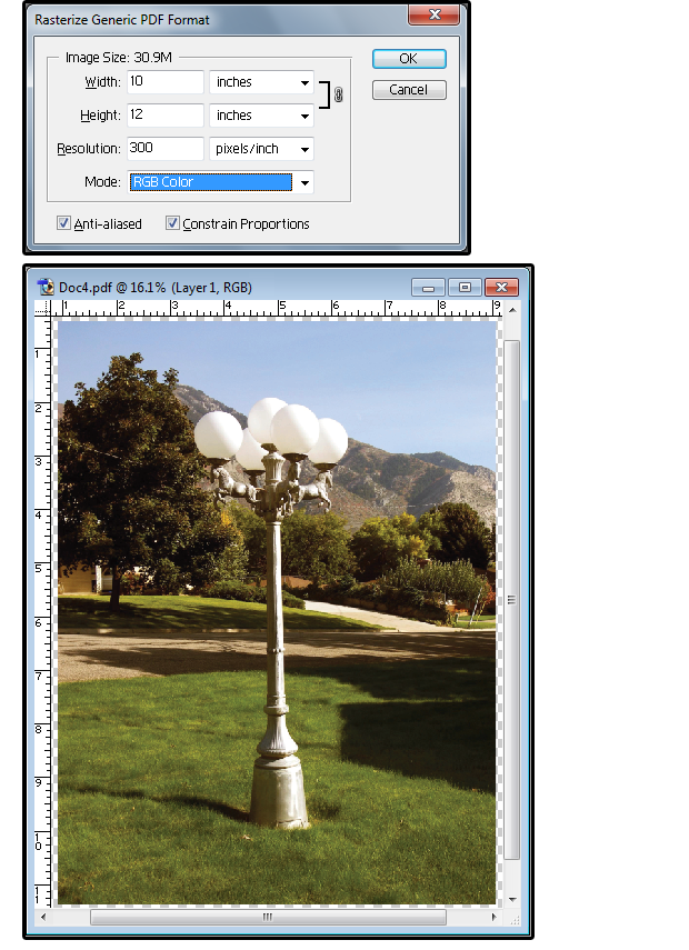 11 the exported pdf is the closest in size resolution to the original