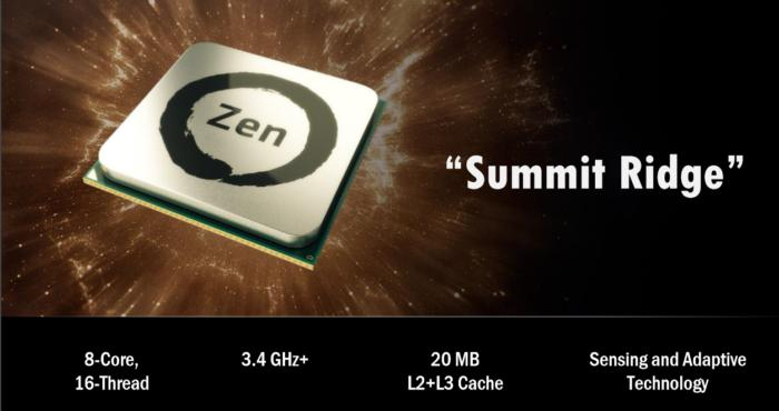 amd zen summit ridge summary slide