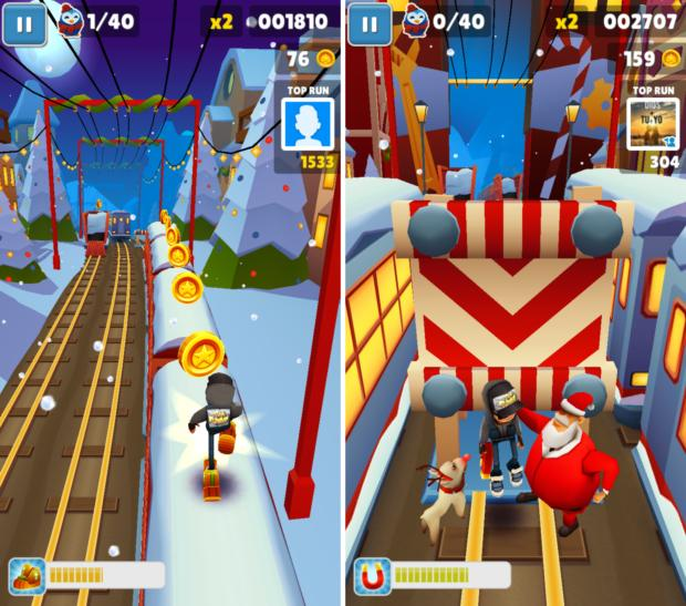 android holiday games 2016 subwaysurfers