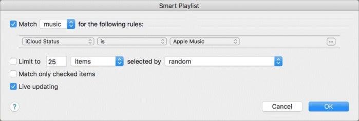 apple music smart playlist