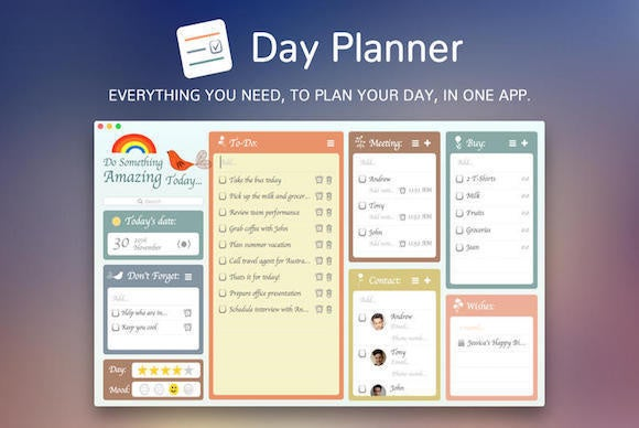 the week in mac apps day planner is more than your average calendar macworld. Black Bedroom Furniture Sets. Home Design Ideas