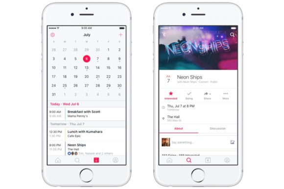 facebook events ios app