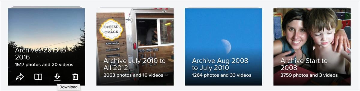 flickr albums with download links