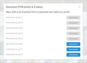 flickr download zip dialog