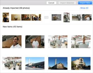 flickr macos photos import dialog