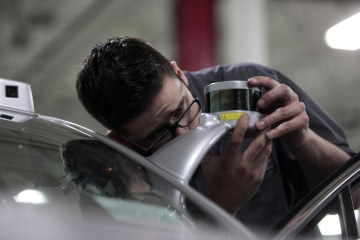 ford self driving car lidar sensors