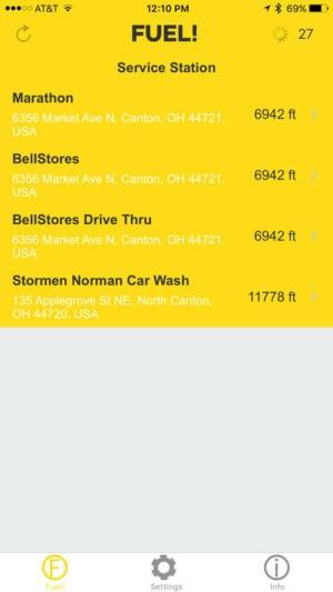 fuel station list