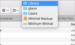 mac911 path to folder popup