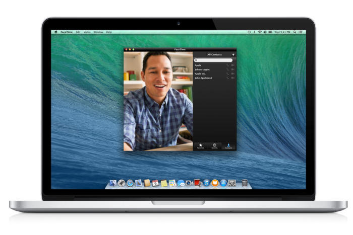 macbook mavericks facetime