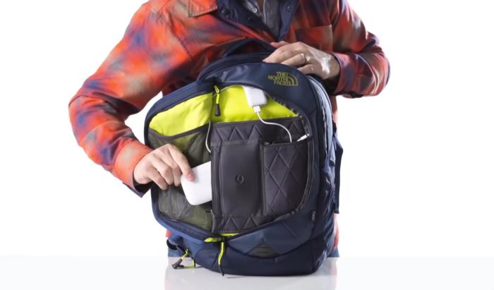 north face inductor charged backpack