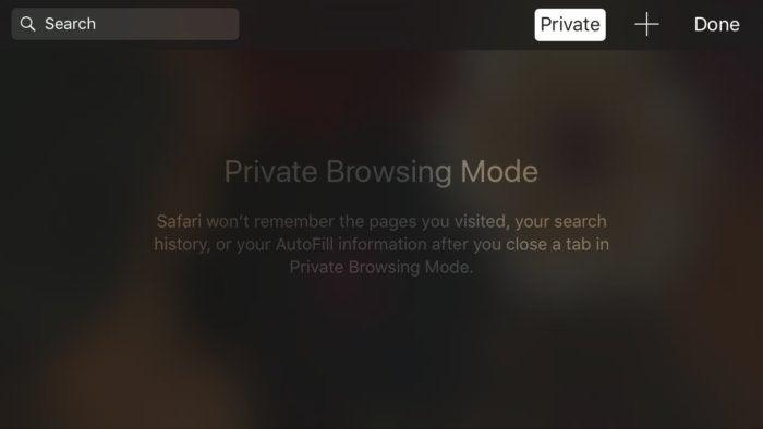 privatei safari ios private browsing