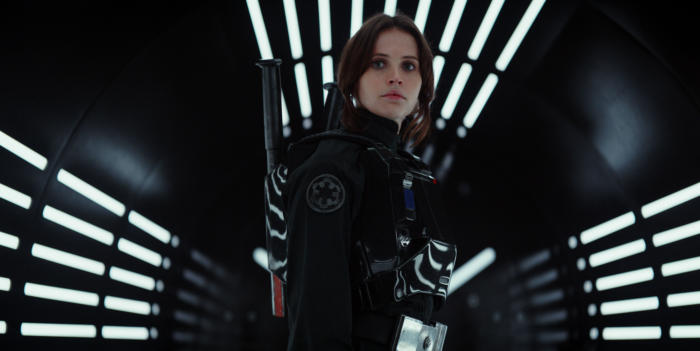 rogue one jyn erso geared up