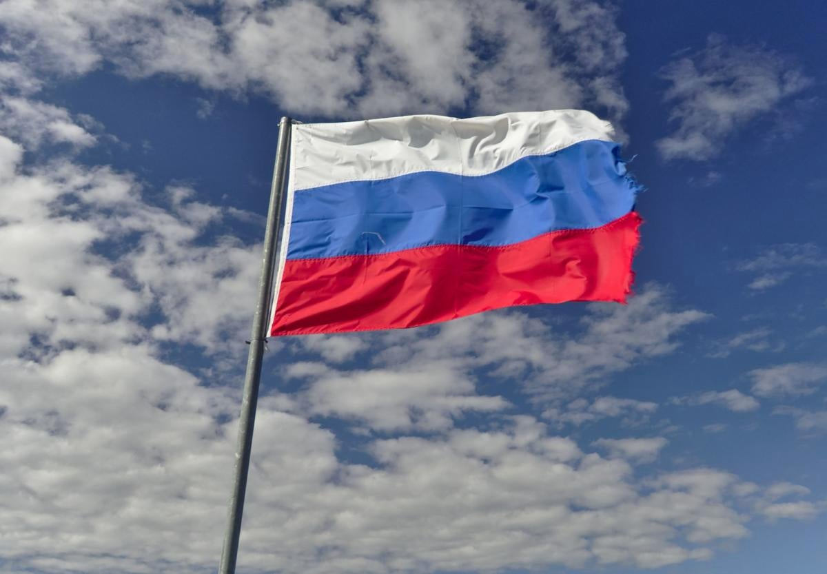 Russia flag Russian