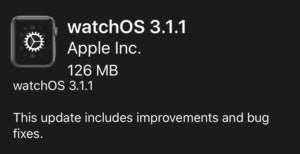watch os 3.1.1 screen