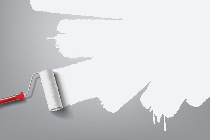 white roller paint