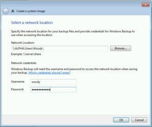 Create a Win7 system image