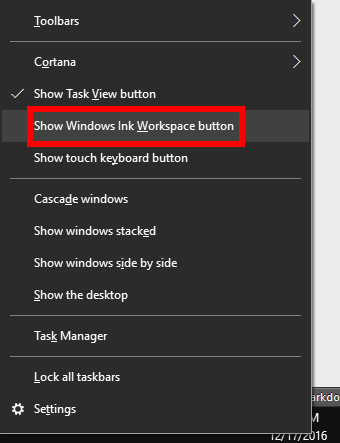How to turn on the Ink Workspace in Windows 10 | PCWorld