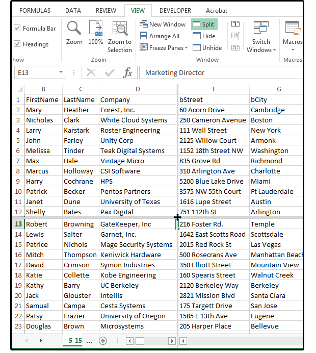 607a294adbe3 7 Excel tips for huge spreadsheets  Split Screen