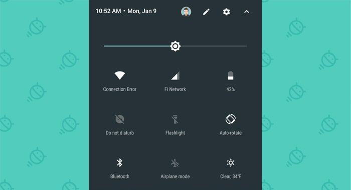 Android Nougat Quick Settings: Weather